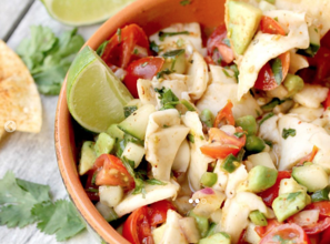 Young Coconut Meat Ceviche