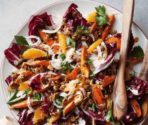 Sweet potato radicchio salad